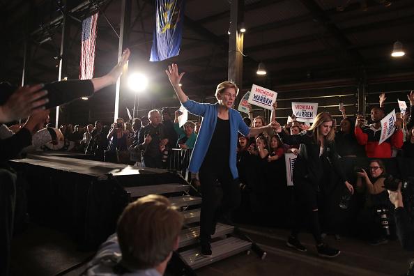 Super Tuesday「Democratic Presidential Candidate Elizabeth Warren Holds Super Tuesday Night Event In Detroit」:写真・画像(11)[壁紙.com]