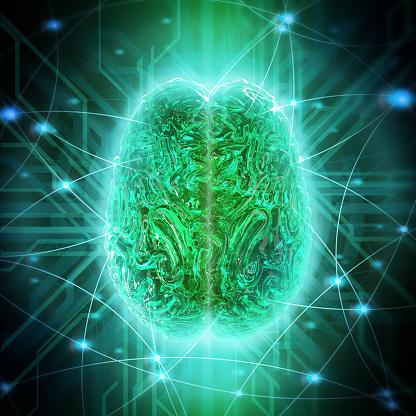 Intelligence「Human brain connection, conceptual artwork」:スマホ壁紙(10)