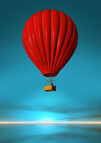 Balloon「Red Hot-Air Balloon」:スマホ壁紙(1)