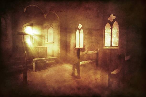 Vintage photo of church interior:スマホ壁紙(壁紙.com)