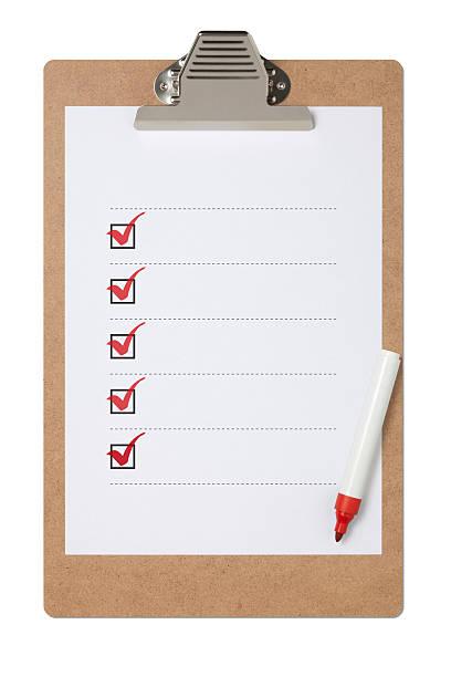Checklist On Clipboard With Clipping Path:スマホ壁紙(壁紙.com)