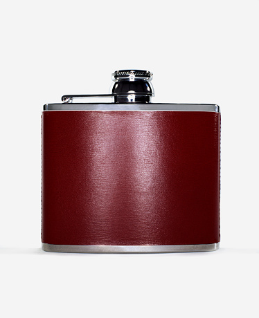Weekend Activities「burgundy alcohol flask on white background」:スマホ壁紙(4)