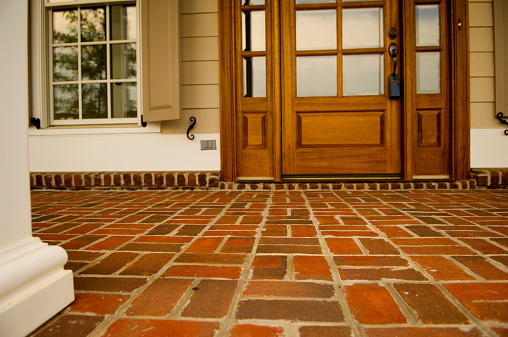 Front Door「Front Porch Made of Brick of a Home or House」:スマホ壁紙(6)