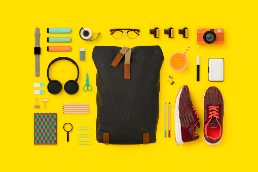 Knolling - Concept「Things in my bag flat lay」:スマホ壁紙(5)