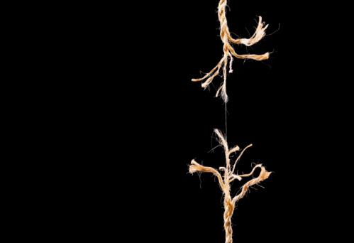 Physical Pressure「Frayed rope breaking on black background」:スマホ壁紙(17)