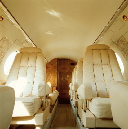 Passenger Cabin「Private jet aircraft interior」:スマホ壁紙(3)
