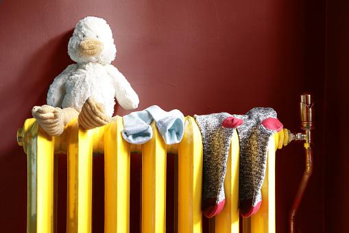 Intelligence「stuffed toy and socks on radiator」:スマホ壁紙(12)