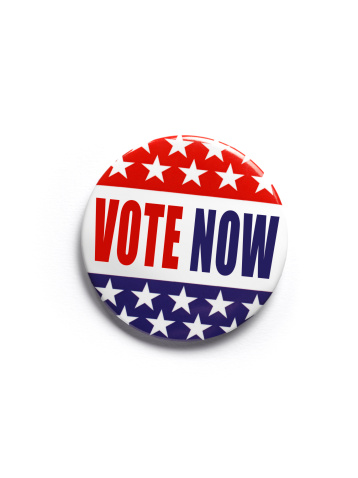 Political Rally「American 'vote now' button badge」:スマホ壁紙(16)