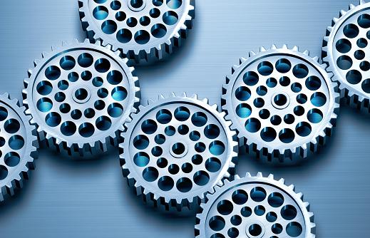 Gear - Mechanism「Interlocking metal gears」:スマホ壁紙(9)