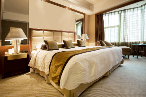 Double Bed「Hotel Bedroom」:スマホ壁紙(8)