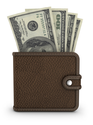 American One Hundred Dollar Bill「wallet with dollars」:スマホ壁紙(13)