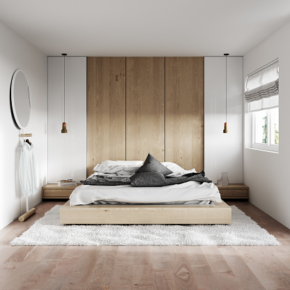 Square - Composition「Modern bedroom interior」:スマホ壁紙(11)