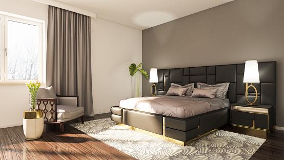 Bedroom「Modern Bedroom」:スマホ壁紙(6)