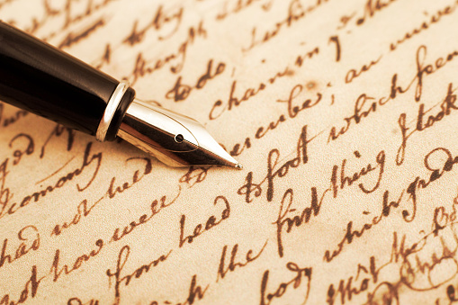 Calligraphy「Calligraphy pen and letter closeup photo」:スマホ壁紙(0)