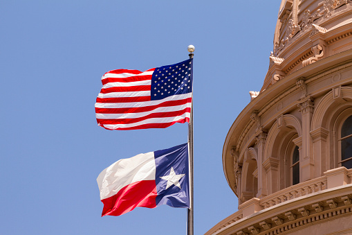 Gulf Coast States「Flags, Texas State Capitol building, Austin」:スマホ壁紙(2)