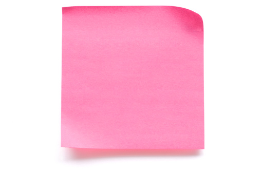 Adhesive Note「Pink blank note paper isolated on white」:スマホ壁紙(10)