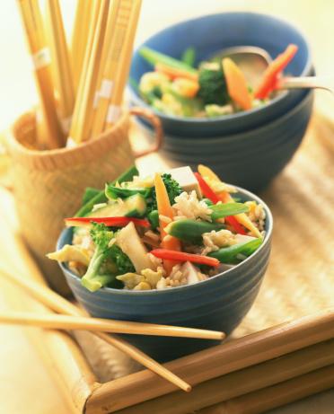 Vegetarian Food「Vegetable stir fry over brown rice」:スマホ壁紙(17)