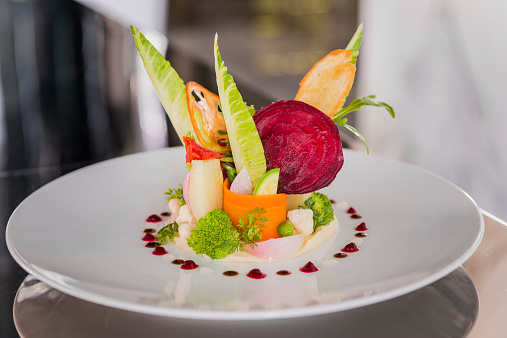 Fennel「Vegetable salad on plate, Haute Cuisine」:スマホ壁紙(18)