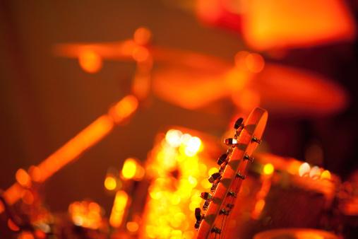 Rock Music「Guitar player on stage」:スマホ壁紙(8)