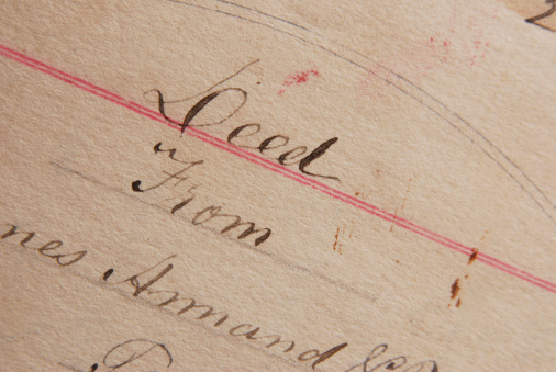 Deed「Antique Deed from the 1800s.」:スマホ壁紙(12)