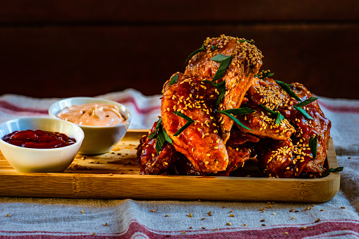Chicken Wing「Roasted chicken wings with sesame, tomato ketchup and mayonnaise dip」:スマホ壁紙(8)