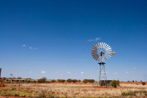 Queensland「Windmill in the Outback,Rural Australia」:スマホ壁紙(7)