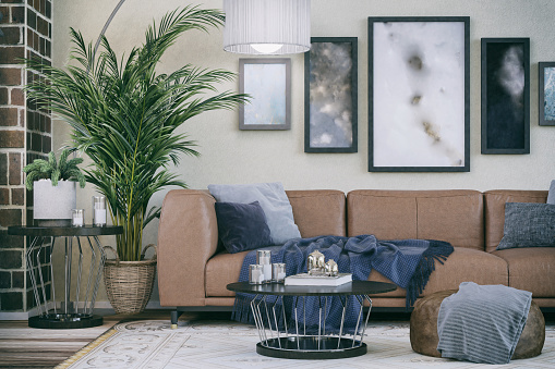 Tranquility「Comfortable Sofa in Domestic living room」:スマホ壁紙(8)