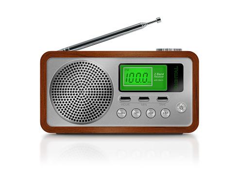 Listening「Digital drawing of a portable radio on white background」:スマホ壁紙(8)