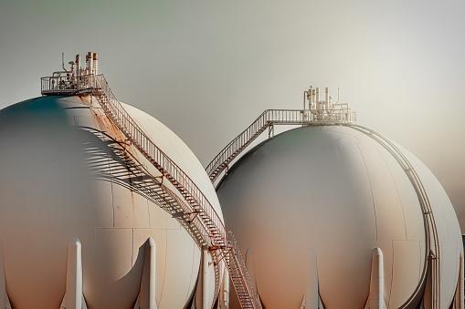 Chemical「Sphere gas tanks in refiney plant」:スマホ壁紙(17)
