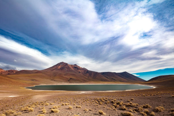 Laguna Miñiques located in Atacama desert at 4,140m altitude, Chile, January 19, 2018:スマホ壁紙(壁紙.com)