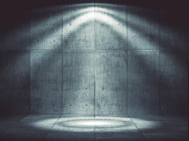 Dark concrete environment with top illumination:スマホ壁紙(壁紙.com)