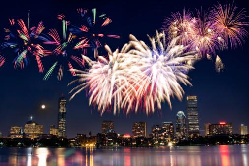 花火「ボストン 7 月 4 日の国慶節の花火大会」:スマホ壁紙(15)