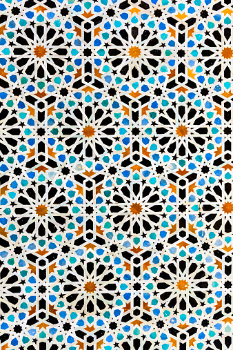 Intricacy「Arabic mosaic inside medina of Fes in Morocco」:スマホ壁紙(2)