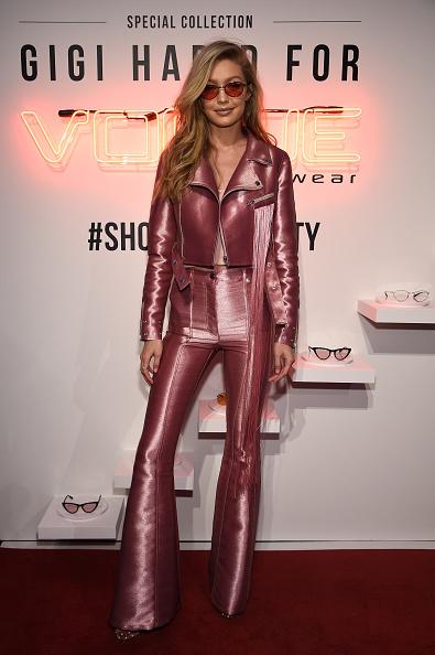Leather「Gigi Hadid for Vogue Eyewear #ShowYourParty Event」:写真・画像(11)[壁紙.com]