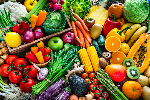Onion「Healthy fresh fruits and vegetables background」:スマホ壁紙(13)