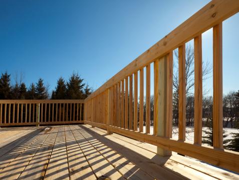 Carpentry「New Pine Wood Lumber Patio Deck Surface, Railing, Shadow, Project」:スマホ壁紙(11)