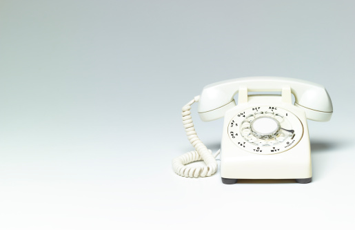Anticipation「White phone on white background with copy space」:スマホ壁紙(17)