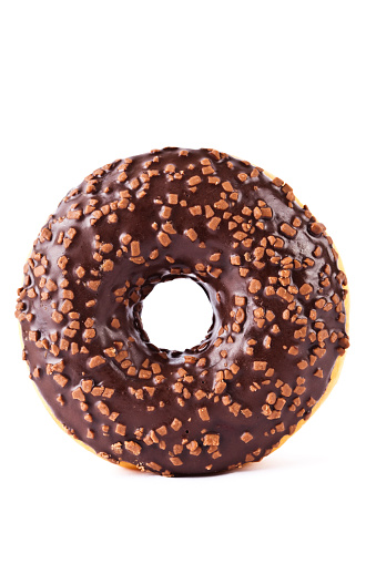 Doughnut「Chocolate covered donut with nuts」:スマホ壁紙(3)