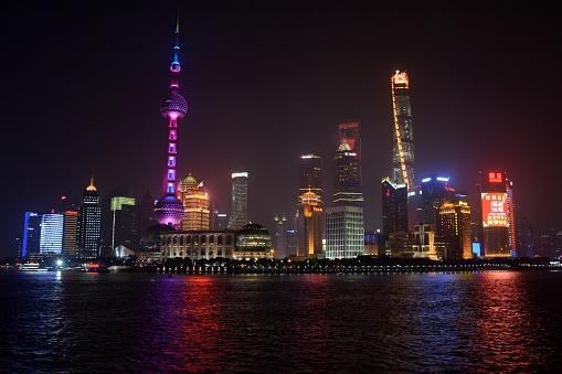 Postmodern「Lujiazui skyline, 2017 Chinese New Year, Shanghai, China」:スマホ壁紙(15)