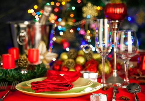 Christmas「Elegant Christmas table setting」:スマホ壁紙(15)