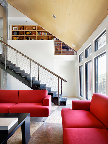 Arch - Architectural Feature「Seating Area by Steel Stairway」:スマホ壁紙(8)