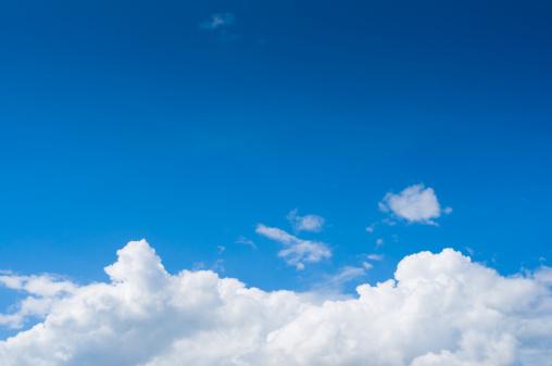 Cumulus Cloud「Clear Blue Sky」:スマホ壁紙(14)