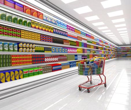 For Sale「Shopping cart in the supermarket.」:スマホ壁紙(0)