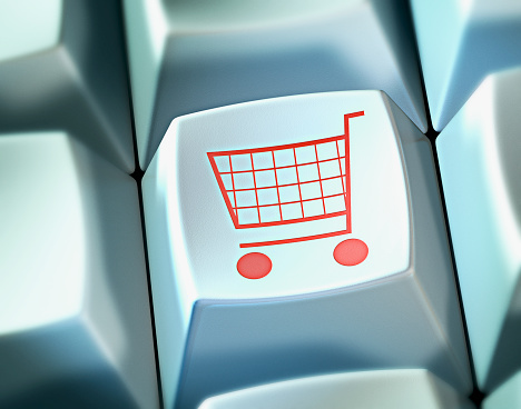 Home Shopping「Shopping Cart on Computer Keyboard Button」:スマホ壁紙(8)