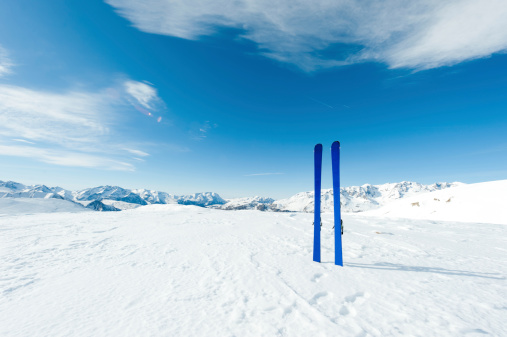 Grenoble「Winter High Mountain Landscape with ski」:スマホ壁紙(18)