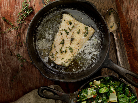 Pollock - Fish「Butter Poached Halibut with Swiss Chard」:スマホ壁紙(0)