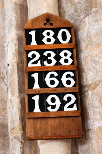 Singer「Hymn numbers board in a church」:スマホ壁紙(8)