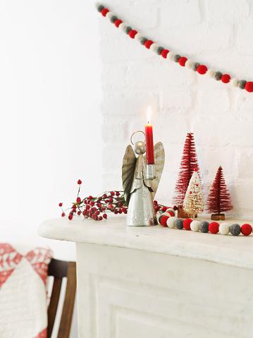 Christmas Decoration「Christmas Mantle」:スマホ壁紙(7)