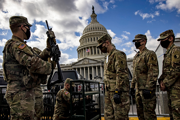 Capitol Hill「Protests Expected In Washington DC Ahead Of Biden Inauguration」:写真・画像(2)[壁紙.com]