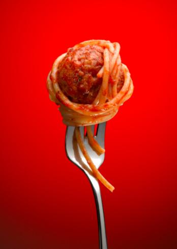 Spaghetti「Spaghetti and Meatball on Fork」:スマホ壁紙(17)